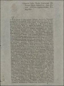 Actum in Curia Regia Varsaviensi Die Prima Mensis Septembris, Anno Domini Millesimo Septingentesimo Nonagesimo