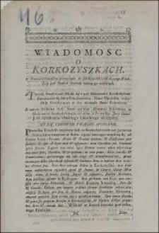 Wiadomosc o Korkozyszkach w Powiecie Ośmiańskim sytuowanych do Seminarium Diecezyi Wileńskiey pod Rządem Kapituły zostaiącego należących