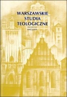 Warszawskie Studia Teologiczne. T. 22, [cz.] 1 (2009). Spis treści