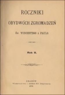 Roczniki Obydwóch Zgromadzeń św. Wincentego a Paulo. R. 2, nr 1-4 (1896)