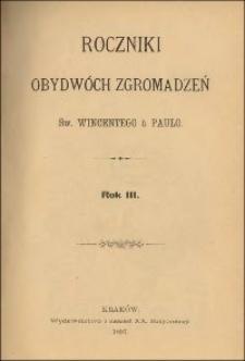 Roczniki Obydwóch Zgromadzeń św. Wincentego a Paulo. R. 3, nr 1-4 (1897)