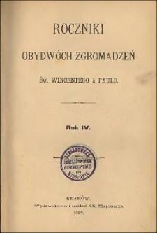 Roczniki Obydwóch Zgromadzeń św. Wincentego a Paulo. R. 4, nr 1-4 (1898)