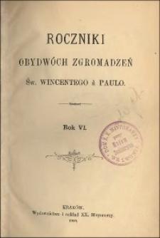 Roczniki Obydwóch Zgromadzeń św. Wincentego a Paulo. R. 6, nr 1-4 (1900)
