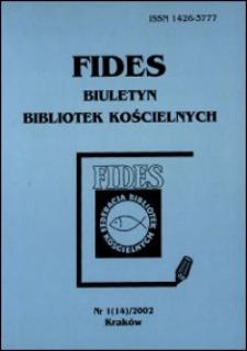 Fides : biuletyn bibliotek kościelnych. 2002, nr 1. [Recenzje] (s. 120-126)