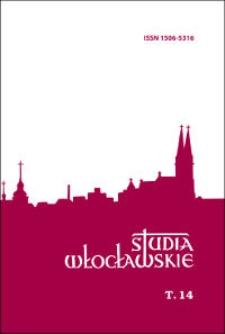 Studia Włocławskie. T. 14 (2012). Słowo wstępne ; Spis treści ; Contents