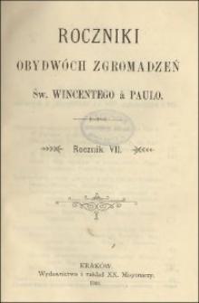 Roczniki Obydwóch Zgromadzeń św. Wincentego a Paulo. R. 7, nr 1-4 (1901)