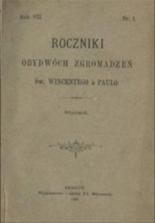 Roczniki Obydwóch Zgromadzeń św. Wincentego a Paulo. R. 13, nr 1 (1907)