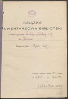 Biblioteka Akademii Teologii Katolickiej - Inwentarz Nr 5