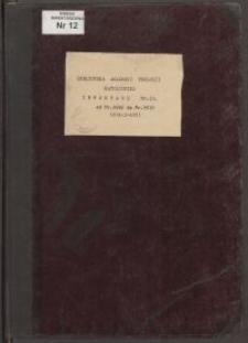 Biblioteka Akademii Teologii Katolickiej - Inwentarz Nr 12