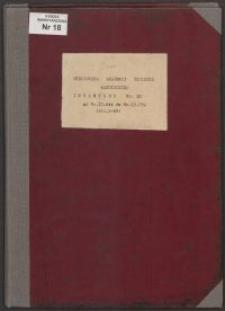 Biblioteka Akademii Teologii Katolickiej - Inwentarz Nr 18