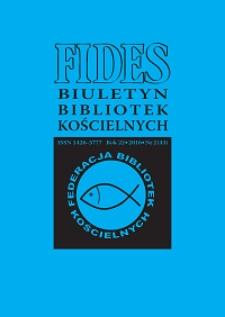 Fides : biuletyn bibliotek kościelnych. R. 23, nr 1 (2017)
