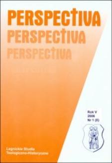 Spis treści (Perspectiva, R.5, nr 1)