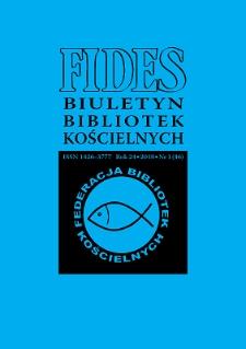 Fides : biuletyn bibliotek kościelnych. R. 24, nr 1 (2018)