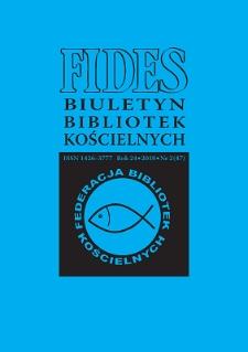 Fides : biuletyn bibliotek kościelnych. R. 24, nr 2 (2018)