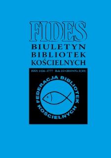 Fides : biuletyn bibliotek kościelnych. R. 25, nr 2 (2019)