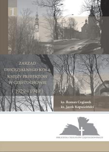 Zarząd Diecezjalnego Koła Księży Prefektów w Częstochowie (1929-1949)