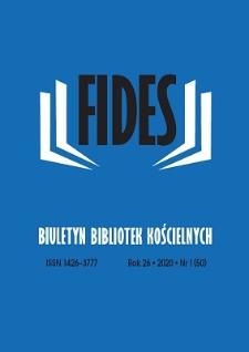 Fides : biuletyn bibliotek kościelnych. R. 26, nr 1 (2020)