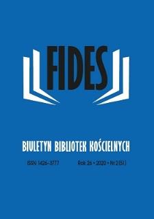 Fides : biuletyn bibliotek kościelnych. R. 26, nr 2 (2020)