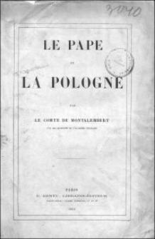 Le pape et la Pologne / par le Comte de Montalembert