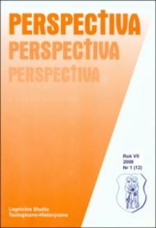 Spis treści (Perspectiva, R.7, nr 1)