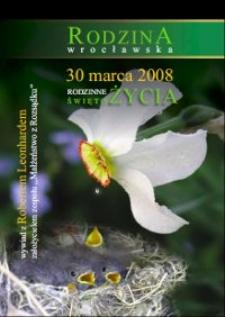 Rodzina wrocławska : 30 marca 2008 : Rodzinne Święto Życia
