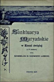 Sanktuarya Maryańskie w Ziemi Świętej : (ze wspomnień o Ziemi Świętej)