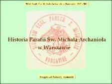 Historia Parafii Św. Michała Archanioła w Warszawie