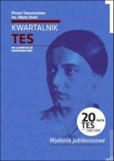 Kwartalnik TES : pismo Towarzystwa im. Edyty Stein. 2009, nr 2-3 (25-26)