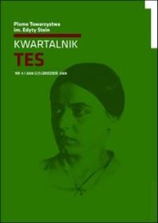 Kwartalnik TES : pismo Towarzystwa im. Edyty Stein. 2009, nr 4 (27)