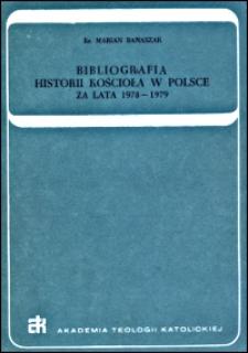 Bibliografia historii Kościoła w Polsce : za lata 1978-1979