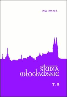 Spis treści = Contents (Studia Włocławskie. T. 9/2006)